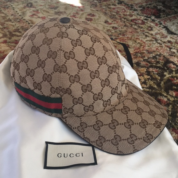 b5df97c8c02 Gucci Other - Gucci Original GG Canvas Baseball Hat with Web